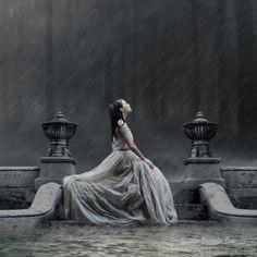 Peaceful in the rain