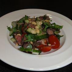 Scharfer Rindfleischsalat aus Thailand.