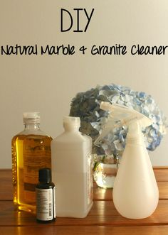 DIY Natural Marble & Granite Cleaner with @scotchbriteus #ScotchBriteSponges  #ad