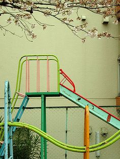 REFRESH | update your little one's backyard swing set with some pops of color! (playground by Horst Kiechle)