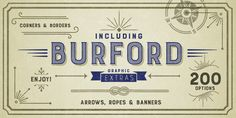 Burford - Webfont & Desktop font « MyFonts You gotta love those extras #fontextra #fontbonus #fontdesign #fonts #font