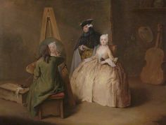 A Painter in His Studio - Pietro Longhi