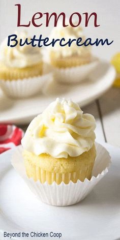 Lemon Buttercream Frosting…Perfect for cupcakes or cakes! This lemon frosting … Lemon Buttercream Frosting…Perfect for cupcakes or cakes! This lemon frosting is full of lemon flavor and is perfectly spreadable. Frost Cupcakes, Filling For Cupcakes, Gourmet Cupcakes, Cupcake Creme, Mini Cakes, Cupcake Cakes, Lemond Curd, Cupcake Recipes, Dessert Recipes