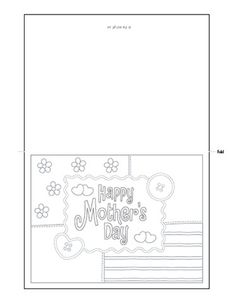 Free Printable Mothers Day Cards TO Color Mothers Day Verses, Mothers Day Crafts For Kids, Happy Mothers Day, Mothers Day Cards Printable, Free Printable Cards, To Color, Color Card, Coloring For Kids, Coloring Pages