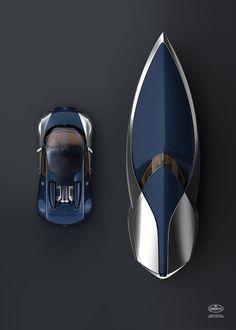 Bugatti car and boat