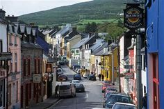 Dingle town, rented an apartment here for a week on this street.