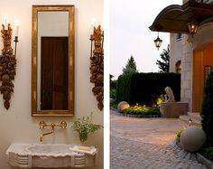 ahhhh, could you die for those #sconces; fab!  Beth Webb Interiors