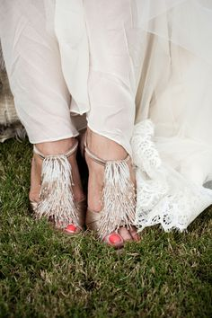 These #bridal #shoes are to die for! So unique and fun {Viera Photographics}