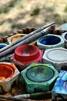 Nice to meet you. My Art Studio, Painted Boxes, Artist Life, Nice To Meet, Make Art, Paint Brushes, Art Studios, Belle Photo, Art Supplies