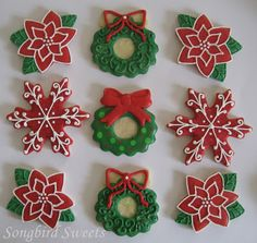 beautifully decorated christmas cookies christmas wreath cookies holiday cookies christmas wreaths christmas ornaments - How To Decorate Christmas Cookies