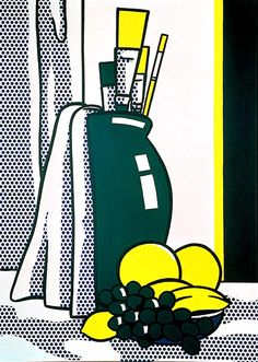 'Still Life with Green Vase', Oil by Roy Lichtenstein (1923-1997, United States)