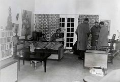 Lieutenant van Wyk and his team from the Special Branch search the lounge of the main house at Liliesleaf Farm, 11 July 1963 - This Day in History: Jul 11,1963: Police raided Liliesleaf Farm and captured 19 ANC members