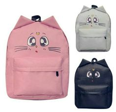 Cheap women backpack, Buy Quality travel backpack directly from China shoulder bags college Suppliers: Ear Cat Flower Printing Backpack Women Canvas Cartoon Shoulder Bag Schoolbag Backpacks for Teenage Girls Travel Bolsa Mochila Cartoon Ears, Cat Backpack, Cat Flowers, Cat Bag, Student Fashion, Sailor Scouts, Herschel Heritage Backpack, Cool Things To Buy, Stuff To Buy