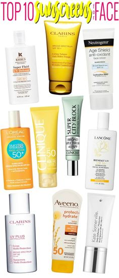 Top 10 Sunscreens for Face.