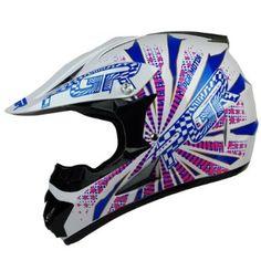 $50 Amazon.com: PGR X25 Youth VORTEX Motocross MX BMX Dirt Bike Dune Buggy Enduro ATV Quad Off Road DOT Approved Helmet (Youth XL, White/Pink): Automotive