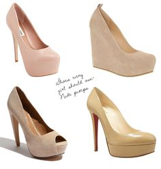 shoes every girl should own - nude pumps