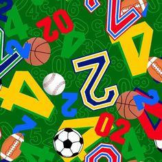 numbers sports print scrubs