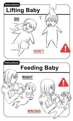 How to take care of baby Eren: | Attack on Titan | Shingeki no Kyojin | Eren Jaeger | Armin Arlert | Mikasa Akerman