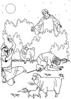 De engel verschijnt bij de herders