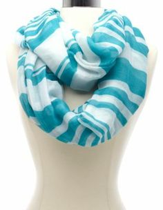 variegated striped infinity scarf