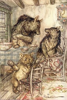 The Three Bears : English Fairy-Tales. Edited by Flora Steel. Illustrated by Arthur Rackham. 1918
