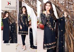 Punjabi Patiala Wedding black Salwar Kameez Bollywood Designer Indian Embroidery #Handmade #SalwarKameez