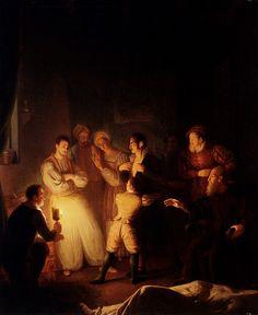 Petrus Van Schendel (1806-1870) The Accusation Oil on panel  61.5 x 74 cm (24.21 x 29.13)
