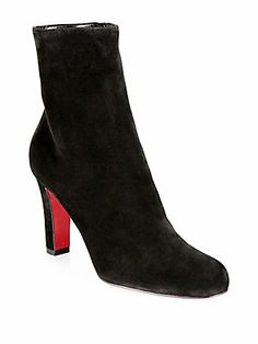 Christian Louboutin Miss Tack Suede Ankle Boots ( i could probably handle these better than the classic stiletto but i still want the stiletto)