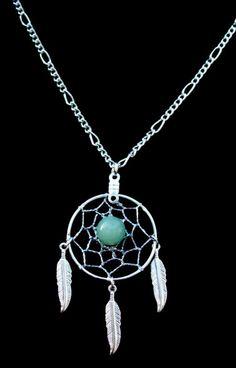 ADVENTURINE DREAM CATCHER Necklace in Silver by SerenityJewelry, $10.00
