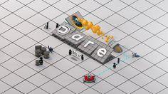 Cinema 4D - Creating an Isometric Portal Wallpaper Tutorial