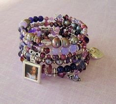 Reserved - Payment Plan For Nancy - Purple Boho Bracelet