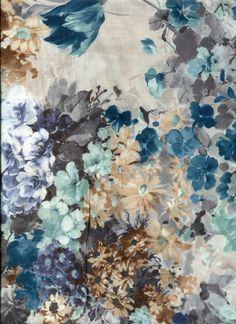 Stoff grafische Muster - Jersey mit Blumendruck - ein Designerstück von Textil-Aktuell bei DaWanda