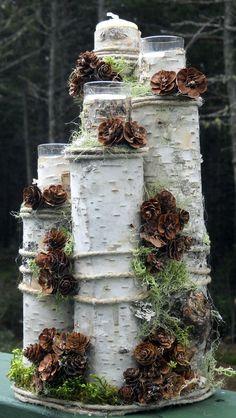 30 Rustic Birch Tree Wedding Ideas   http://www.deerpearlflowers.com/30-rustic-birch-tree-wedding-ideas/