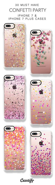 30 Must Have Confetti Party iPhone 7 Cases and iPhone 7 Plus Cases. More Sparkle iPhone case here > https://www.casetify.com/collections/top_100_designs#/?vc=elt9yFwejY #iphone6splus, #iphone7pluscase