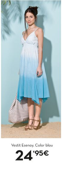 www.lamallorquina.es Beachwear, High Low, Dresses, Fashion, Blue, Beach Outfits, Gowns, Moda, La Mode