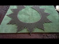 Netted necklace - Increasing and decreasing rows  ~ Seed Bead Tutorials