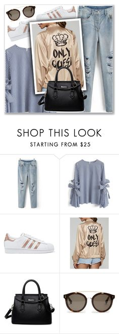 """""""#25"""" by lejla-7 ❤ liked on Polyvore featuring Chicwish, adidas Originals and STELLA McCARTNEY"""