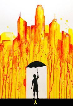 Marc Allante's Hong Kong pro-democracy protest artwork