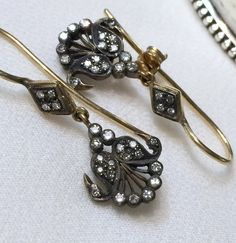 Antique Victorian Diamond 18k Earrings by Mosaicsandjewelry