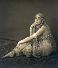 Jenny Hasselqvist as Schereazade by Henry B Goodwin Shot on the set of Sumurun c1920