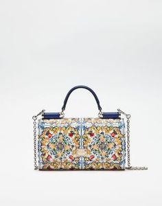 MINI VON BAG EN PIEL DAUPHINE ESTAMPADA - Mini bags - Dolce&Gabbana - Invierno 2016