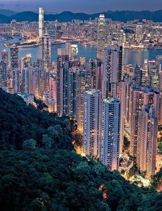 Hong Kong - The city is beautiful at night when it's all lit up. www.facebook.com/loveswish