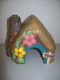 Hand Painted Ceramic Toad House