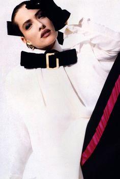 Gianfranco Ferre, Domino magazine, 1987.