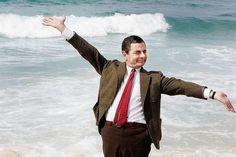 Mr Bean: Rowan Atkinson will never . Mr Bean Movie, Mr Bean Photoshop, Old M, Thriller Novels, Blackadder, Waves Goodbye, British Comedy, Old Tv Shows, Humor Grafico