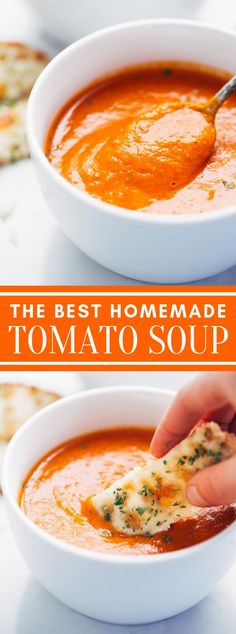 Simple Homemade Tomato Soup You are in the right place about chicken soup recipes Here we offer you the most beautiful pictures about the corn soup recipes you are looking for. When you examine the Simple Homemade Tomato Soup part of the picture you can … Tomato Bisque Soup, Best Tomato Soup, Tomato Tomato, Tomato Garden, Tomato Plants, Tomato Basil, Simple Tomato Soup, Easy Homemade Tomato Soup, Tomato Soups