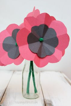 Easy Paper Poppy Flower Tutorial ~ Remembrance Day Craft 1st Grade Crafts, 1st Grade Activities, Toddler Activities, Toddler Arts And Crafts, Crafts For Kids, School Council Ideas, Anzac Poppy, Remembrance Day Activities, November Crafts