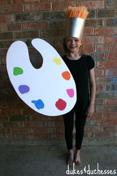 Your little artist can help you craft this easy-to-make costume. Get the tutorial at Dukes and Duchesses. What you'll need: white foam board ($14 for 5; amazon.com), paint ($6; amazon.com),broom ($27; amazon.com), styrofoam disk ($8; amazon.com), poster board ($5; amazon.com), silver spray paint ($4; amazon.com)