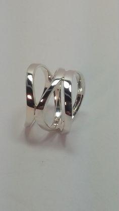 Banda de anillo de plata para mujer 92.5 por silveroceanjewels