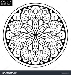 Mandala vector floral flower oriental coloring book page outline with regard to indian mandala coloring pages Mandalas Painting, Mandalas Drawing, Dot Painting, Pattern Coloring Pages, Mandala Coloring Pages, Coloring Book Pages, Mandala Oriental, Indian Mandala, Flower Outline